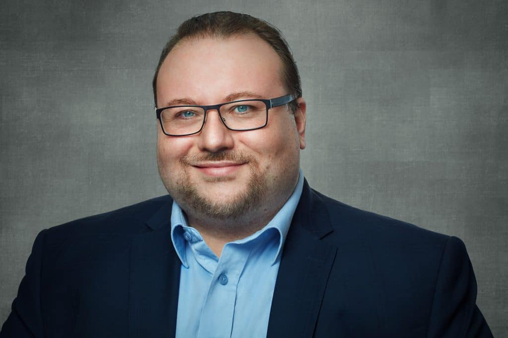 S?bastien DiMichele Director of Public Relations of Blockchain Foundry headshot