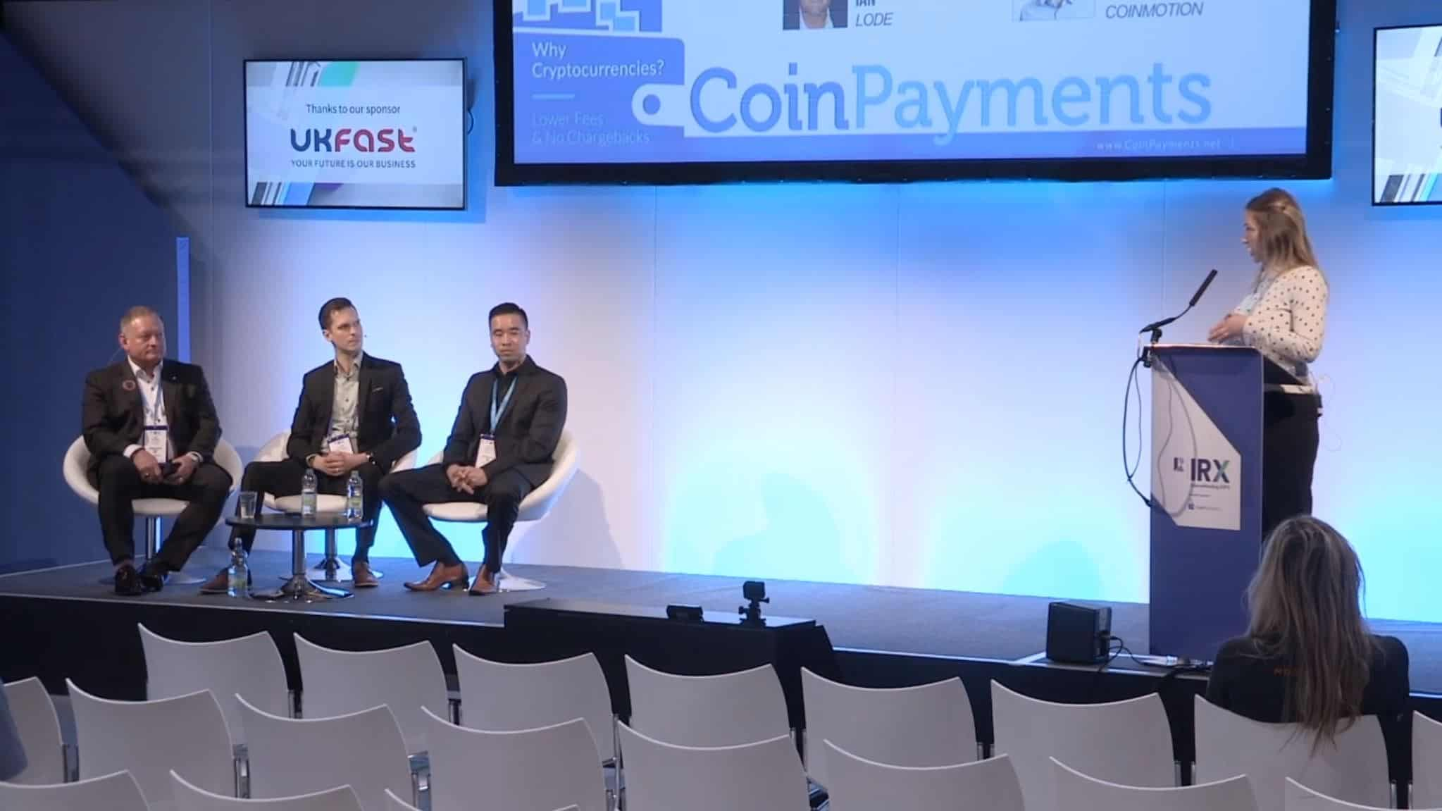 Crypto Panel at IRX2019 with LODE Ambassador Ian Richard