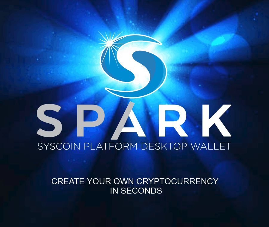 Syscoin Spark, create your own cryptocurrency in seconds