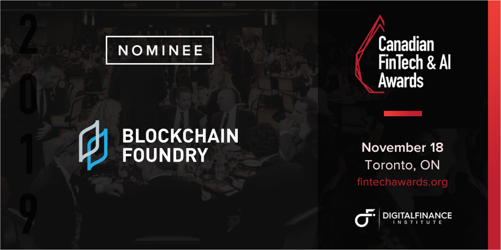 Blockchain Foundry nominated as blockchain company of the year
